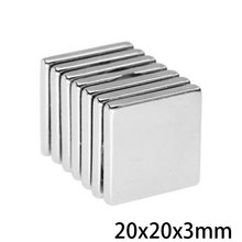 2 50 50 pces 20x20x3mm quadrate ímãs permanentes espessura 3 neodímio ímã n35 20x20x3mm ímãs magnéticos fortes 20*20*3mm