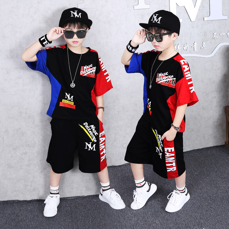 Boys Summer Clothing Sets 2pcs Shirts+ Pants Baby Teenager Boys Sporting Suits Children <font><b>Clothes</b></font> 4 5 6 9 10 <font><b>11</b></font> 12 16 18 <font><b>Years</b></font> <font><b>Old</b></font> image
