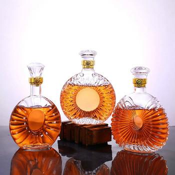 Whisky karafka butelka Whiskey szkło kryształowe wino piwo pojemniki szklana butelka szklana filiżanka strona główna akcesoria barowe ozdoba kieliszek tanie i dobre opinie CN (pochodzenie) ROUND Przezroczysty Ekologiczne W2951