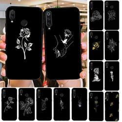 YNDFCNB черно-белые розы чехол для телефона Redmi note 8Pro 8T 6Pro 6A 9 Redmi 8 7 7A Примечание 5 5A note 7 Чехол