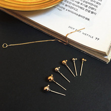 6pcs diy handmade jewelry basic high quality gold plating 925 silver long ear chain earring material