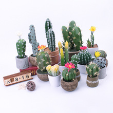 Artificial Plants Bonsai cactus Pot Fake Flowers Potted Ornaments For Home Decoration Hotel Garden Decor