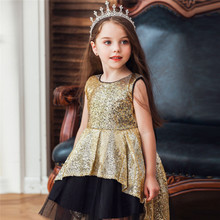 Sequin girls vestido festa princess adolescente party dress kids ropa de marca baby girl birthday costume elbise meisjes kleding
