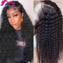 28 30 polegada onda profunda 13x4 longa frente do laço peruca de cabelo humano brasileiro pré arrancado água encaracolado peruca frontal do laço para a mulher preta 150%