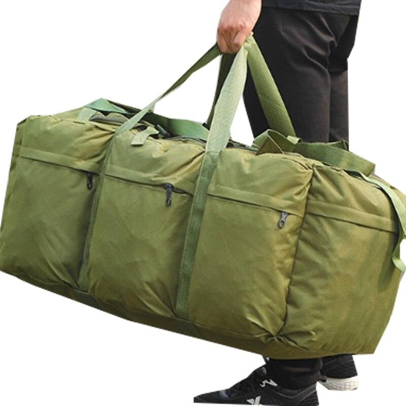 Men Large Capacity Oxford Cloth 90L Luggage Duffle Bag Weekend Big Handbag Multifunction Tote Travel Bags