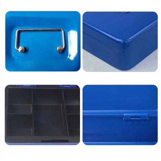 Protable Key Locker Safe Home Shop Steel Mini Money Box Security Cash box Storage Box Hidden Coin Money Jewellery 5