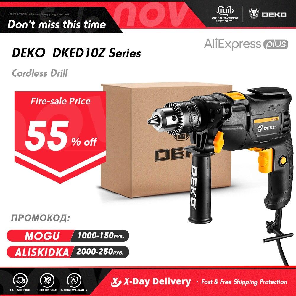 DEKONew DKIDZ Series 220V Impact Drill 2 Functions Electric Rotary Hammer Drill Screwdriver Power Tools Electric Tools|Electric Drills| - AliExpress