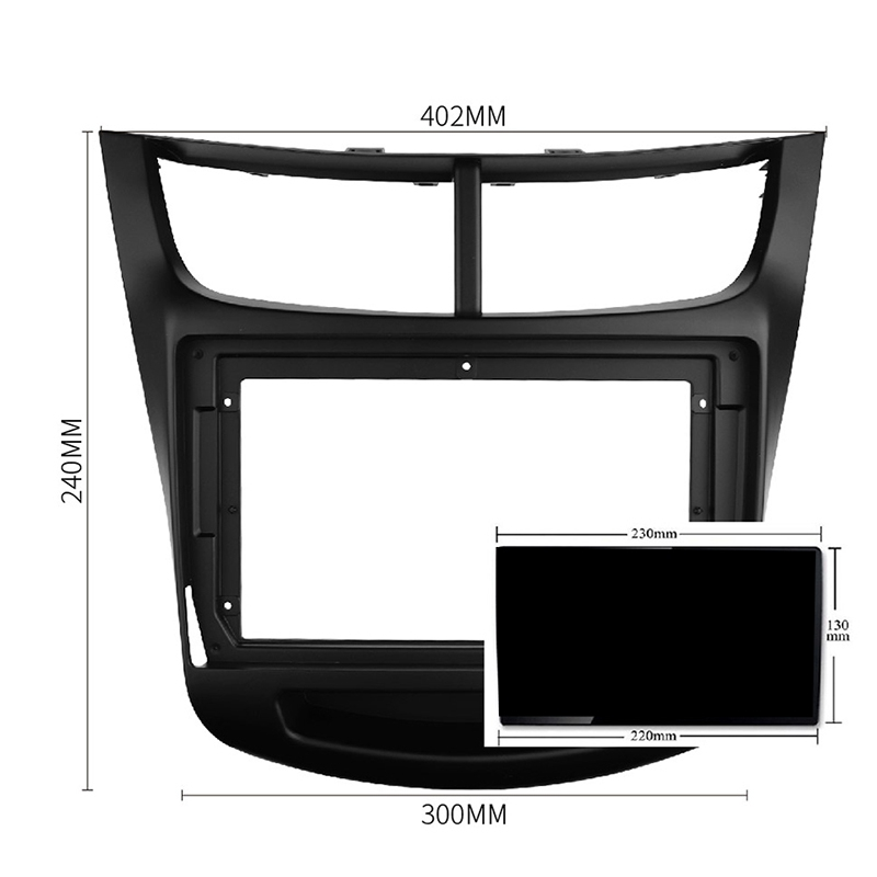 Special 9Inch Car Radio Fascia Frame Dash Panel For Chevrolet Sail 2015 2016 2017 Head Unit Car Refitting Stereo