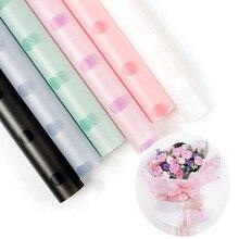 Корейская полупрозрачная оберточная бумага для цветов водостойкий букет подарочная упаковка пленка с рисунком материал украшение дома 60*60 см 20шт