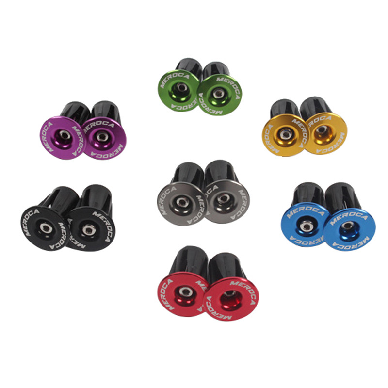 2Pcs Bike Handlebar Cap Lock-On Plugs <font><b>Bicycle</b></font> Grips Caps Aluminum Alloy Covers Mountain Road Bike Handle End Cap <font><b>Bicycle</b></font> <font><b>Parts</b></font> image