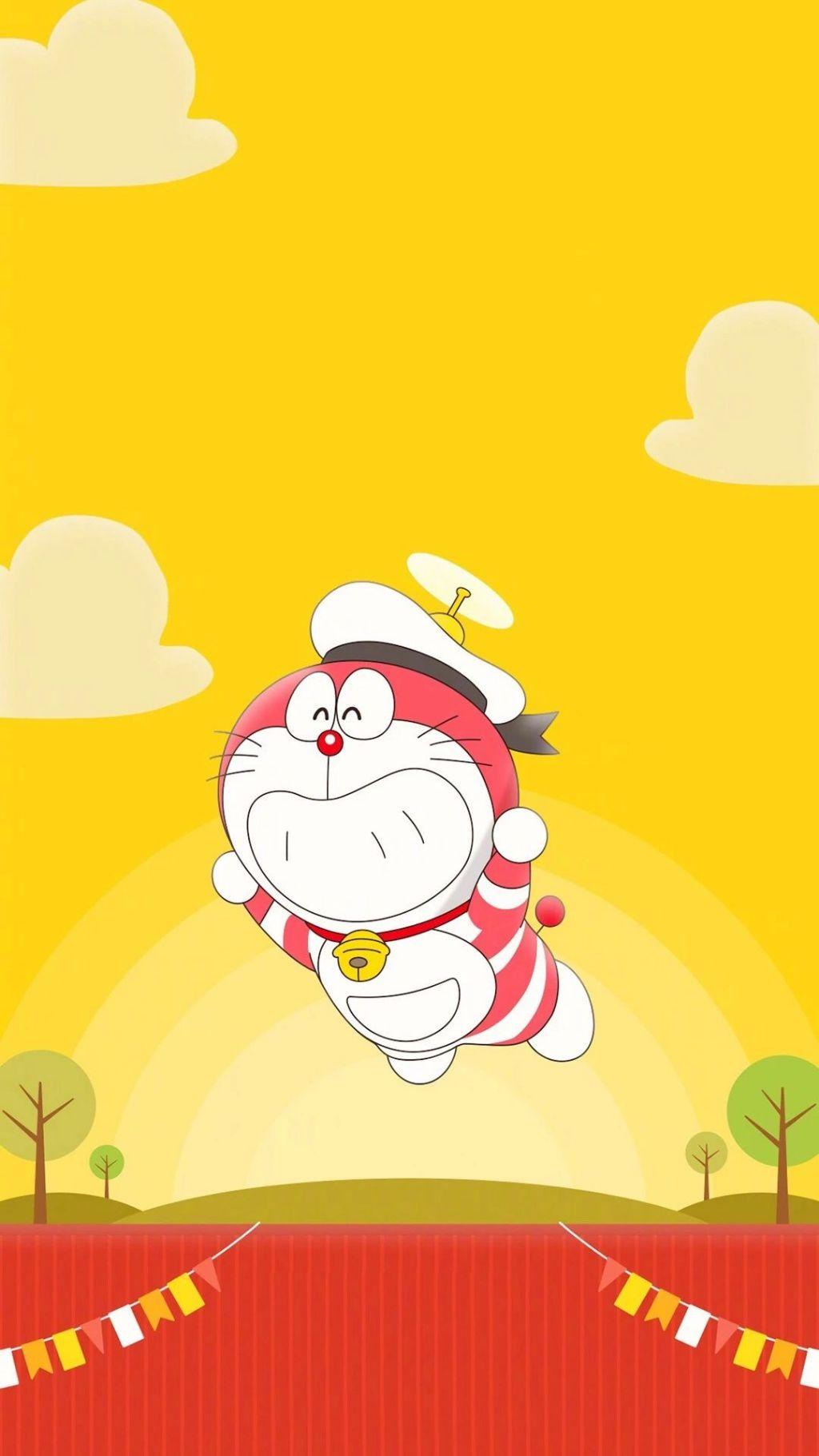 哆啦A梦壁纸:可爱哆啦A梦蓝胖子手机壁纸插图73