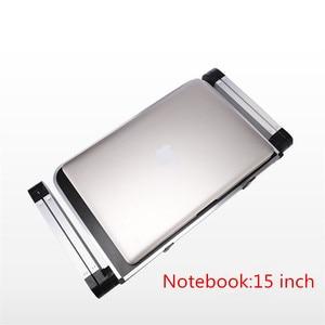 Image 2 - كمبيوتر محمول صغير حامل صينية جلوس للسرير الأريكة قابلة للطي متعددة الوظائف قابل للتعديل مريح ارتفاع 360 درجة زاوية