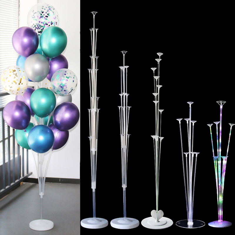 7/11/19tube Balloons Stand Balloon Holder Column Wedding Party Decoration Baloon Kids Birthday Party Balons Baby Shower Supplies 1