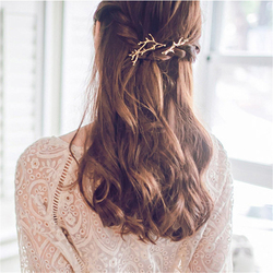Korea Antlers Jewelry Women Alloy Side Clamping Clip Side Branches Hairpins Personality Princess Hair Clips For Hair Accessories