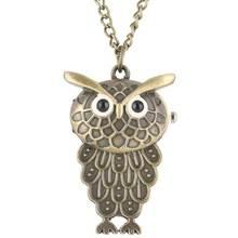 Buy Unique Owl Shape Pocket Watch for Female zakhorloge Necklace Chain Male Quartz Pendant Watch Cute Kids Gift montre de poche directly from merchant!