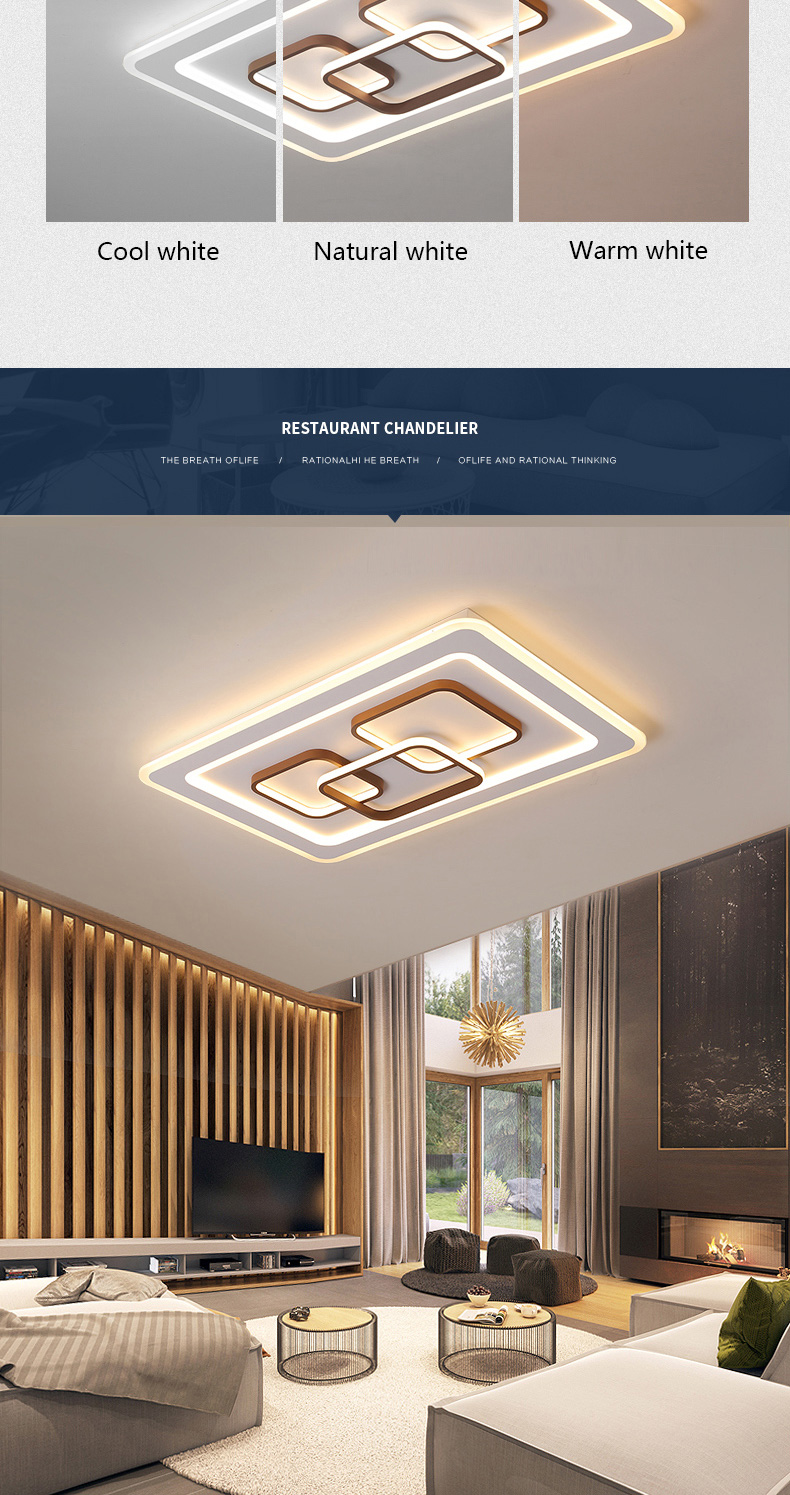 Hc545db9e442545f6a171385564df7314k LED Surface Mount Ceiling Lights | Ceiling Mount Light Fixture | Square/rectangle Modern LED Ceiling Light with 2.4g RF controller ceiling Lamp for Living Room Bedroom led lamp Surface mounted ceiling lights
