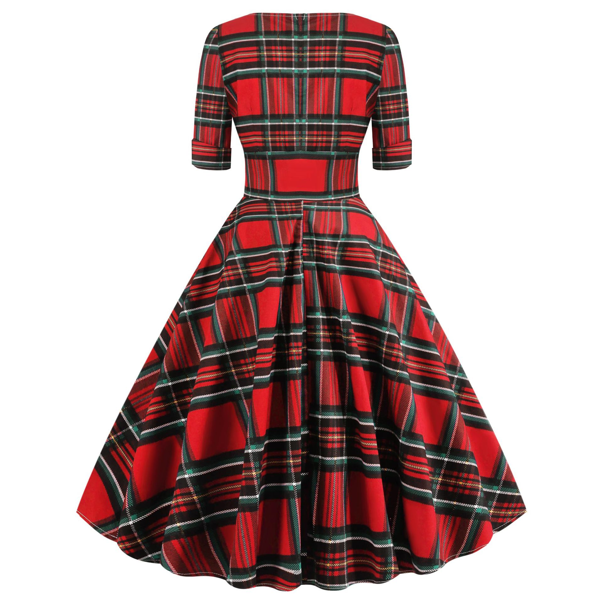 Women Summer Dresses Checkered Plaid Retro Vintage 50s 60s Robe Rockabilly Swing Pinup Office Dress Dot Casual Party Vestidos Buy At The Price Of 14 88 In Aliexpress Com Imall Com