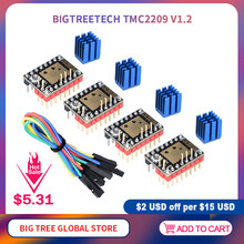 Bigtreetech tmc2209 v1.2 motorista de motor deslizante tmc2208 uart vs tmc2130 5160 para skr v1.4 mini e3 ender 3 peças impressora 3d