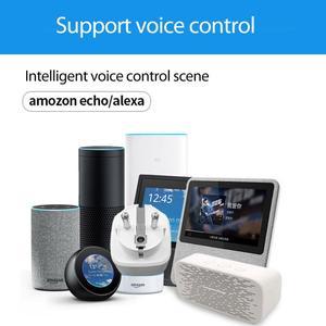 Image 3 - WiFi חכם תקע 16A האיחוד האירופי שקע Tuya חכם חיים אפליקציה לעבוד עם Alexa Google בית עוזר קול בקרת כוח צג עיתוי