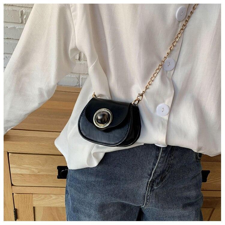 Mini Fashion Pu Soild Color Saddle Bags For Women Small Bag Leather Handbags And Lady Shoulder Bags Cross Body Bag (22)