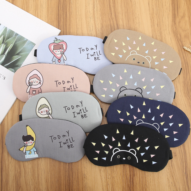 1PCs Cartoon Sleep Mask Eye Mask Eyeshade Eye Patch Soft Blindfold Eyepatch Travel Eye Cover Shade Sleep Shield Eye Care Tools