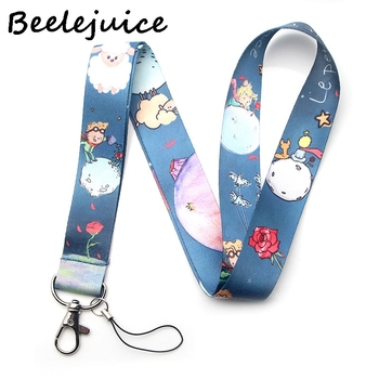 24pcs Little prince Keychain Lanyards Id Badge Holder ID Card Pass Gym Mobile Phone Badge Holder Key Strap webbings ribbons