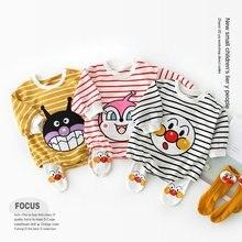 Комбинезон для маленьких девочек; Коллекция 2020 года; Осенняя одежда для малышей из органического хлопка; Зимний цельнокроеный пижамный ком...