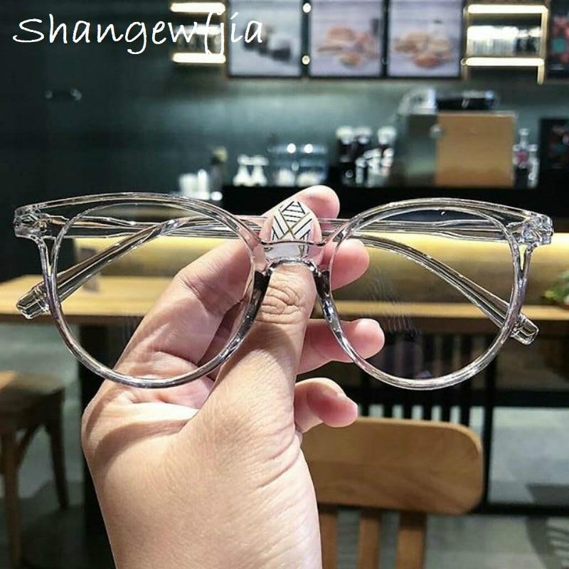 Transparent Fashion Women Glasses Frame Men Eyeglasses Frame Vintage Round  Glasses Optical Spectacle Frame