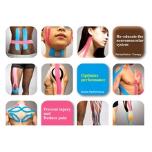 2020 5cm X 5M Kinesiology Tape Athletic Muscle Support Elastoplas Strapping Bands Sport