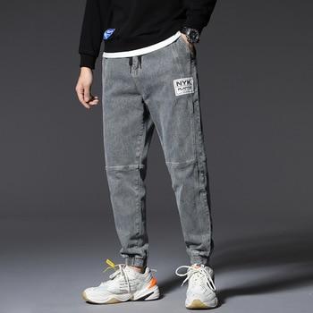 Mens Cool Brand Jeans Skinny Ripped Destroyed Stretch Slim Fit Pants Plus 5x 6x 7x  Men Side Stripe Pocket Denim 2020