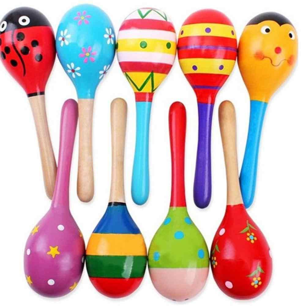 Bebek oyuncakları ahşap çıngırak sevimli Mini kum çekiç Maracas enstrüman oyuncaklar çocuklar hediyeler