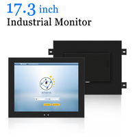 17.3 inch Industrial LCD Monitor Widescreen Wall hanging Computer with VGA HDMI DVI AV TV Output