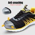 Защитная обувь со стальным носком; рабочие кроссовки для мужчин и женщин; дышащая легкая Повседневная обувь; S3