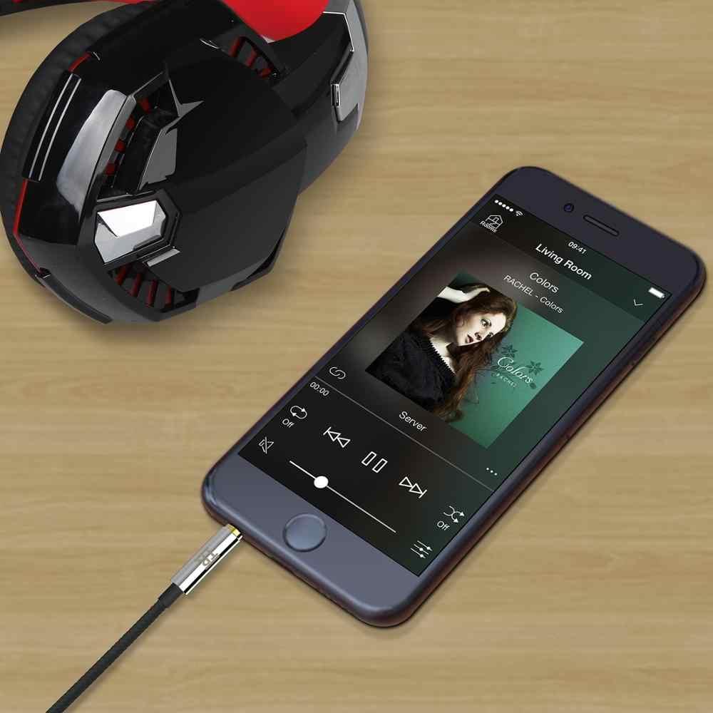 TechRise 1,5 metros de Nylon trenzado de Metal Premium Cable de Audio de 3,5mm negro Pack de 2 chapados en oro de Audio AUX cables