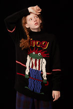 Зимний плотный теплый пуловер вязаная одежда Женский жаккардовый