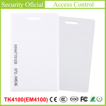 TK4100 Chip Time Attendance Card ID Thick Card EM4100 Induction Access Control Attendance Card RFID Key Tag Radio Frequency Card