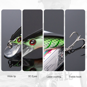 Image 3 - NOEBY Fishing Sinking Minnow ABS Lure 90mm/29g Bass Pike Walleye Trout Plastic Wobbler Hard Baits Swimbaits Artificial Lure Sea