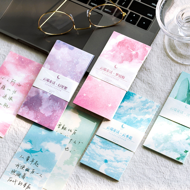 30 Sheets/set Cloud Fairy Tale Series Memo Pad Cute Message Notes Decorative Notepad Note Paper Memo Stationery Office Supplies