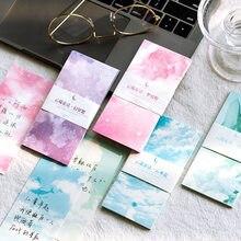 30 arkuszy/zestaw chmura bajka seria notatnik śliczne wiadomości notatki dekoracyjne notatnik karteczki do notowania Memo papiernicze artykuły biurowe
