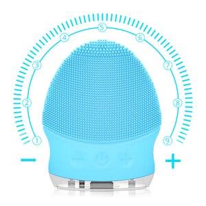 Image 5 - פנים ניקוי מברשת חשמלי סוניק פנים ניקוי מברשת עמיד למים מיני סיליקון פנים מנקה עיסוי USB נטענת