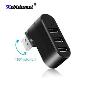 Hub USB 2.0 3 Ports, adaptateur Mini séparateur de rotation pour PC portable, Mac USB 2.0