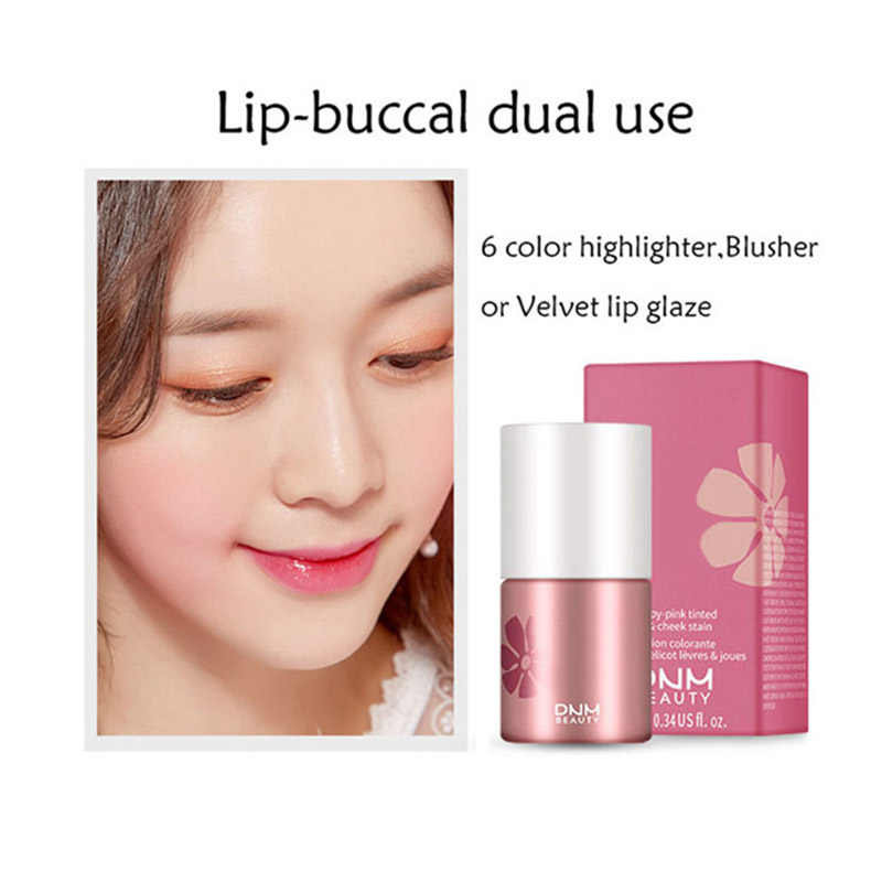נוזל סומק ליפ גלוס לאורך זמן לחות שפתיים הלחי כפול שימוש נוזל שפתון LDO99