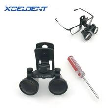 1 pçs novo tipo clipe binocular lupas dentárias para médica galileu lupa com lupa cirúrgica 3.5*420mm