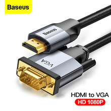 Baseus HDMI To VGA Cable 1080P HD A Male to Male VGA to HDMI Audio Adapter Cable For Projector PS4 PC TV Box HDMI-VGA Converter