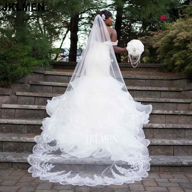 Real Photos Ruffle Organza Mermaid Wedding Dress Lace Beads Pearls Off-the-shoulder Trumpet Bridal Gown Custom Made 2