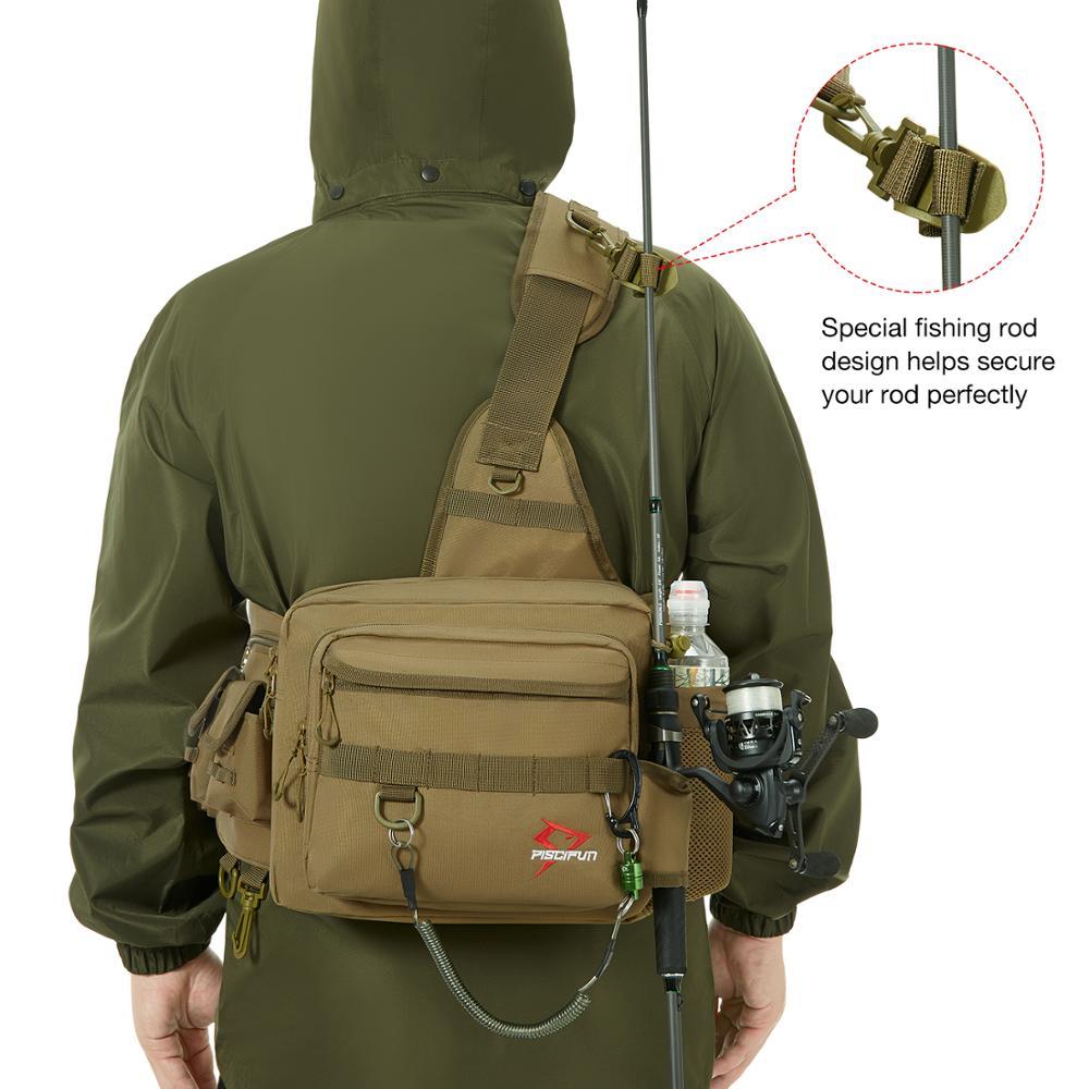 Piscifun Lure-Bag Reel Fishing-Tackle-Bag Water-Resistant-Sling Nylon Outdoor Multifunctional