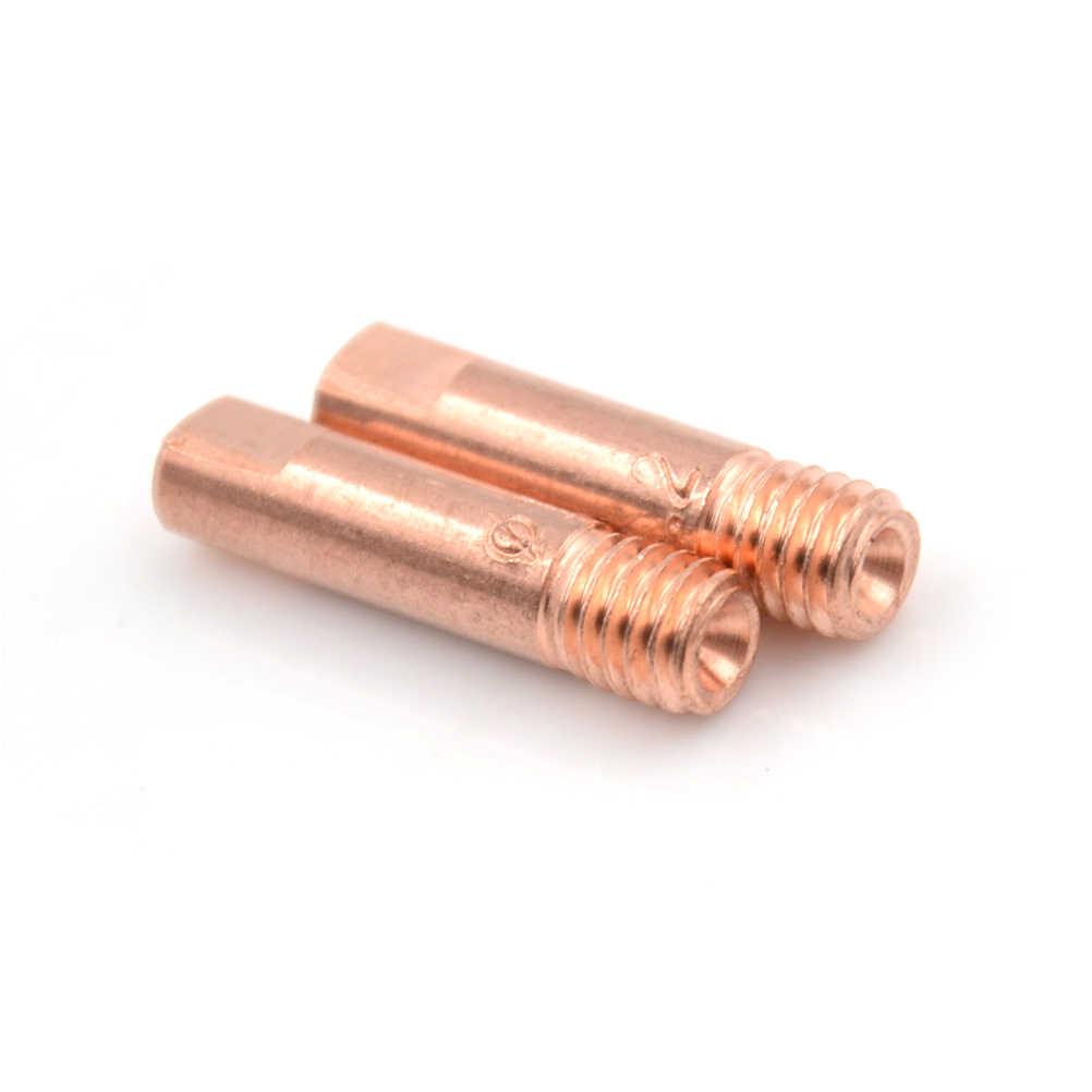 Bộ 10 MB 15AK Mig Mag Hàn Hàn Đèn Pin Liên Hệ Đầu Giá Đỡ Kim Phun Xăng Vàng 1.0Mm 1.2Mm Cao Cấp chất Lượng