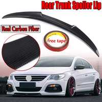 High Quality Real Carbon Fiber Rear Trunk Spoiler Wing Lip For VW For  2008 2015 M4 Style Rear Trunk Wing Spolier|Spoilers & Wings| |  -