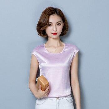 Women Blouses Casual OL Silk Blouse Summer Loose Basic Satin Shirt Work Wear Blusas Feminina Tops Shirts Plus Size XXXL/4XL Tops 5