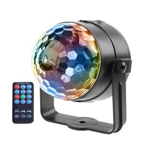 Мини RGB LED хрустальный волшебный шар, сценический эффект, светильник, лампа, вечерние, дискотека, диджейский светильник, лазерное шоу, луч ...
